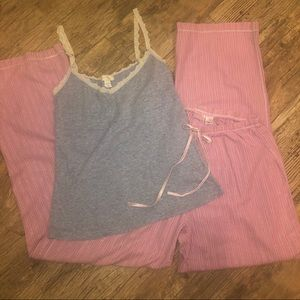 Victoria's Secret camisole and sleep pants